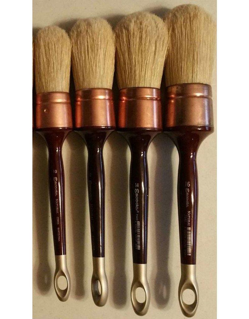 Escoda 7542 Size#12 Patina Brush Oil & Acrylic Natural Chungking Bristle Paint Brush Round Domed