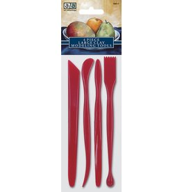 Red Plastic Model Tool Set (4 Piece)