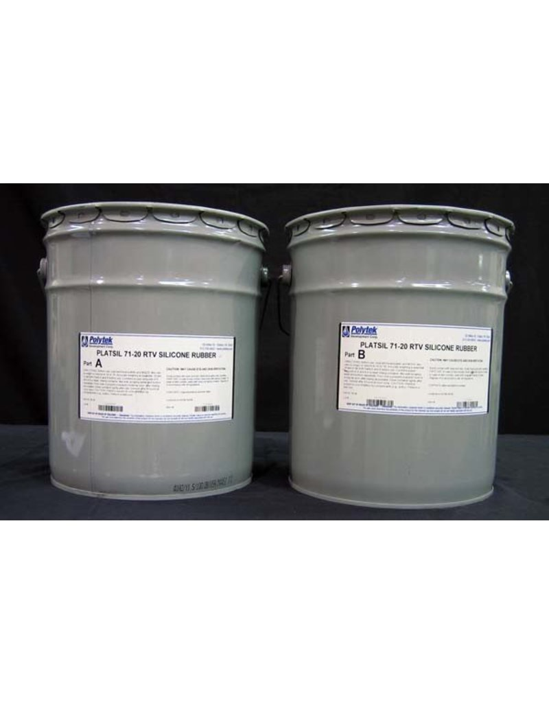 Polytek Development PlatSil 71-20 10 Gallon Kit
