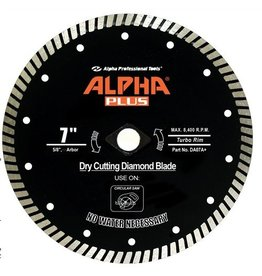 Alpha Plus Diamond Blade 7in