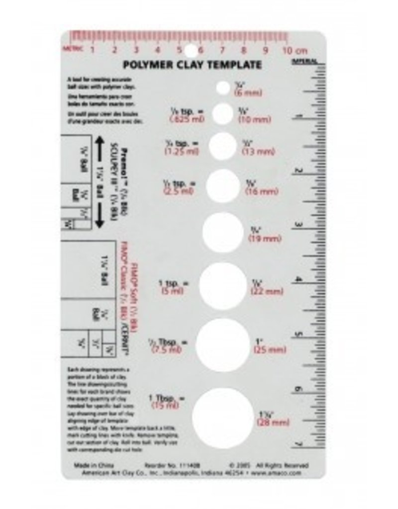 Amaco, Inc. Polymer Clay Template