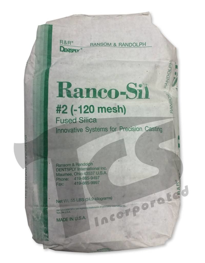 Ransom & Randolf Ranco-Sil #2 120 55lb Bag Medium Fused Silica