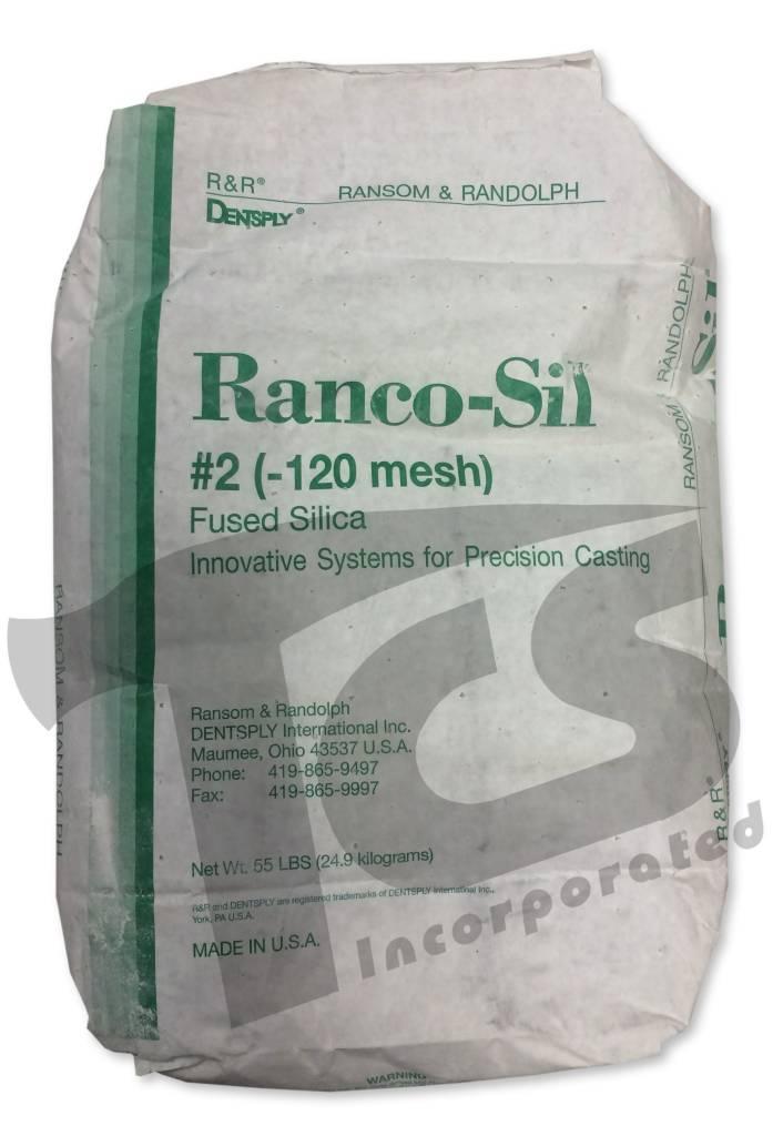 Ransom & Randolph Ranco-Sil #2 120 55lb Bag Medium Fused Silica