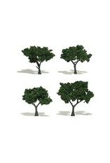Woodland Scenics Realistic Trees 2-3'' Medium Green 4pc