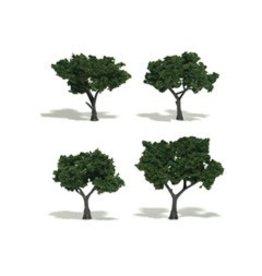 Woodland Scenics Realistic Trees 2-3'' Medium Green 4pc