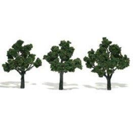 Woodland Scenics Realistic Trees 3-4'' Medium Green 3pc