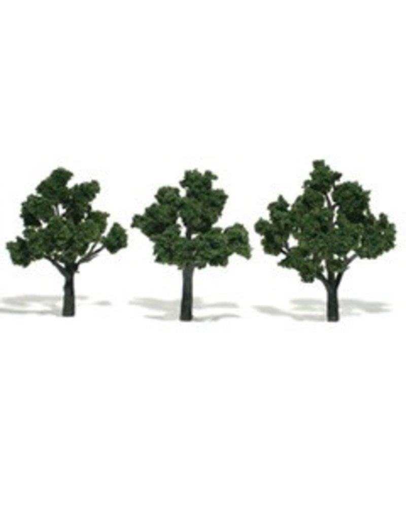 Woodland Scenics Realistic Trees 3-4'' Medium Green 3pc