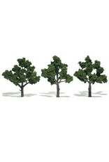 Woodland Scenics Realistic Trees 4-5'' Medium Green 3pc