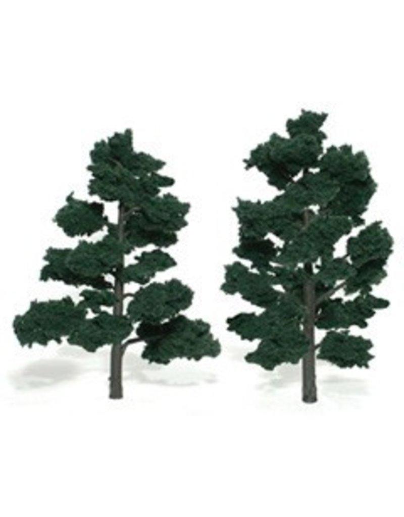 Woodland Scenics Realistic Trees 6-7'' Dark Green 2pc