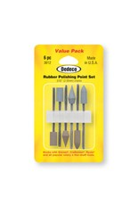 Dedeco International Rubber Polish Point Set 6pc