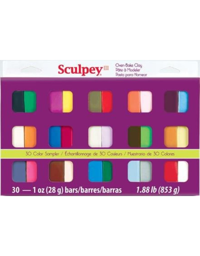 Polyform Sculpey III 30pc Sample Pack
