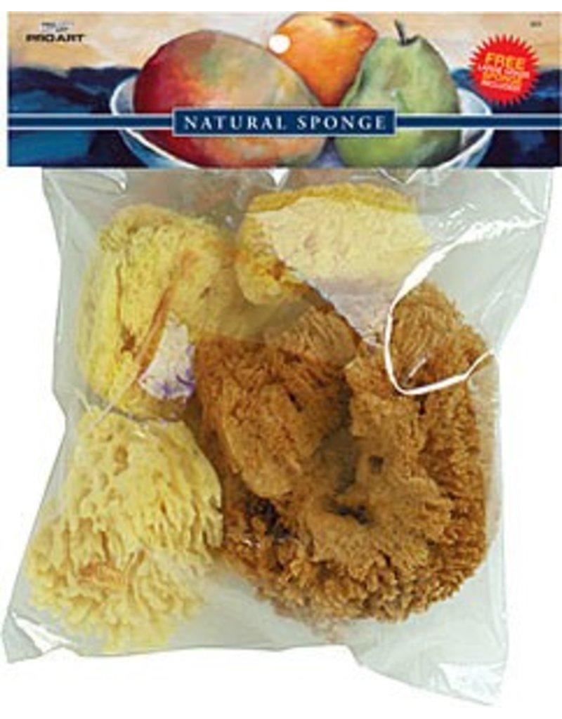 Silk, Wool, & Grass Sponges Combo Set Natural