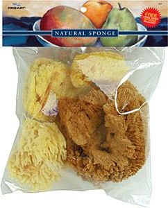 Silk, Wool, & Grass Sponges Combo Set Natural