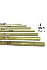 K & S Engineering Solid Brass Rod 1/4'' x 36'' #1165