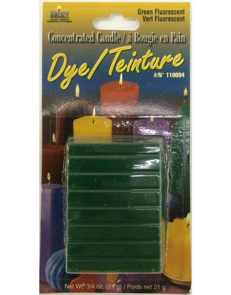 Yaley Enterprises Solid Wax Dye Fluorescent Green