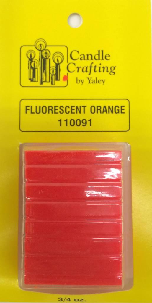 Yaley Enterprises Solid Wax Dye Fluorescent Orange