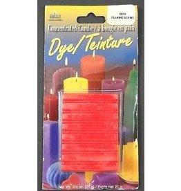Yaley Enterprises Solid Wax Dye Fluorescent Red