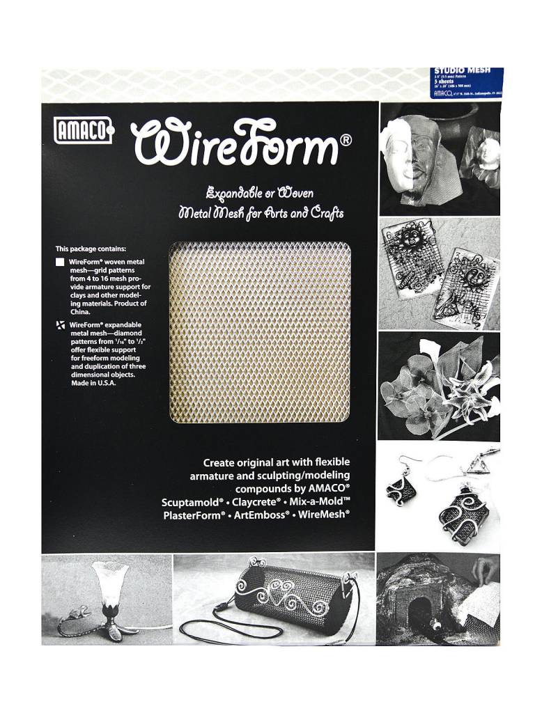 Amaco Studio Mesh 16''x20'' 3 Sheets Wireform