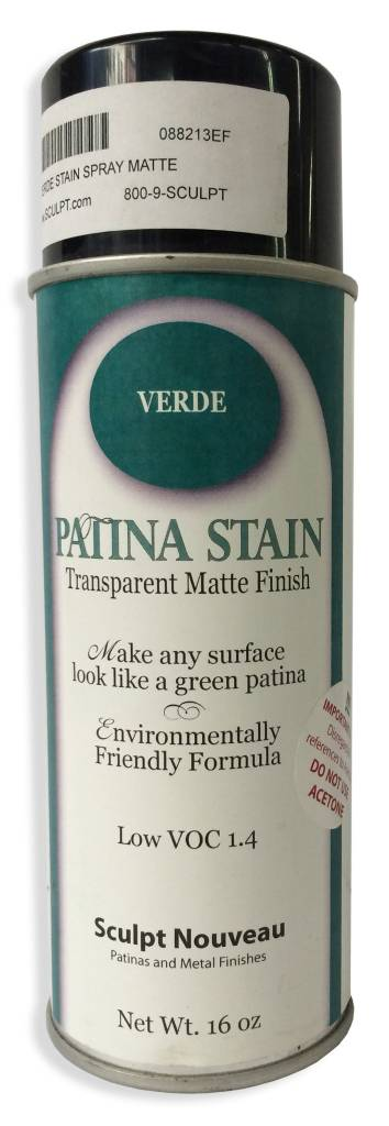 Sculpt Nouveau Verde Patina Stain EF Matte 12oz Spray Can