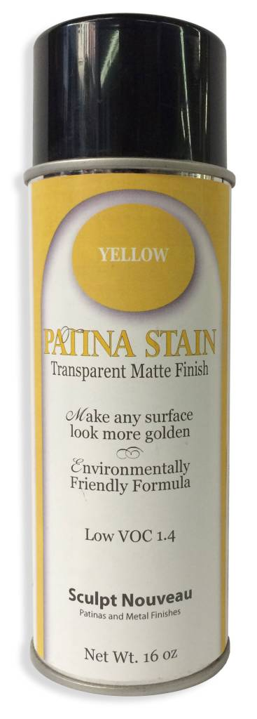 Sculpt Nouveau Yellow Patina Stain EF Matte 12oz Spray Can