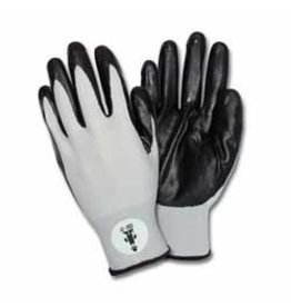 Black Nitrile Coated Nylon Gloves Large (Pair)