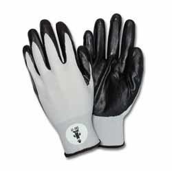Black Nitrile Coated Nylon Gloves Large (Pair)