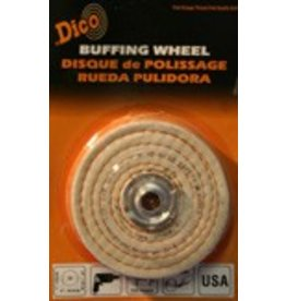 Dico Products Corp 4'' x 1/2'' Firm Spiral Buff 527-40-4