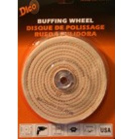 Dico Products Corp 6'' x 1/2'' Firm Spiral Buff 527-40-6