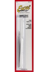 Excel Hobby Blades Sharp Point Tweezers 4-3/4""
