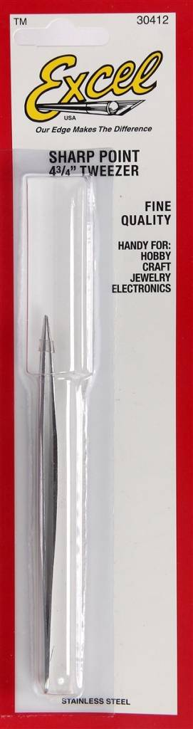 Excel Sharp Point Tweezers 4-3/4""