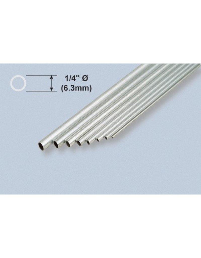 K & S Engineering Aluminum Tube 1/4''x.014''x12'' #8106