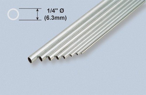 K & S Engineering Aluminum Tube 1/4''x.014''x12'' #8106