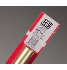 K & S Engineering Brass Tube 19/32''x.014''x12'' #8142