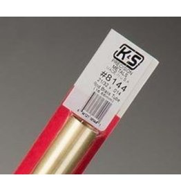 K & S Engineering Brass Tube 21/32''x.014''x12'' #8144