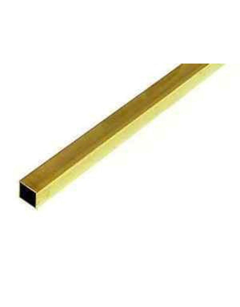 K & S Engineering Square Brass Tube 1/8''x.014''x12'' #8151