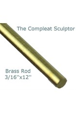 K & S Engineering Brass Rod 3/16''x12'' #8166