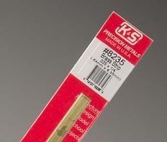K & S Engineering Brass Strip .025''x1/4''x12'' #8235