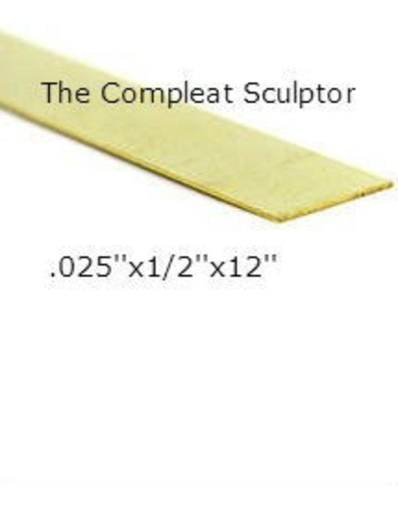 K & S Engineering Brass Strip .025''x1/2''x12'' #8236