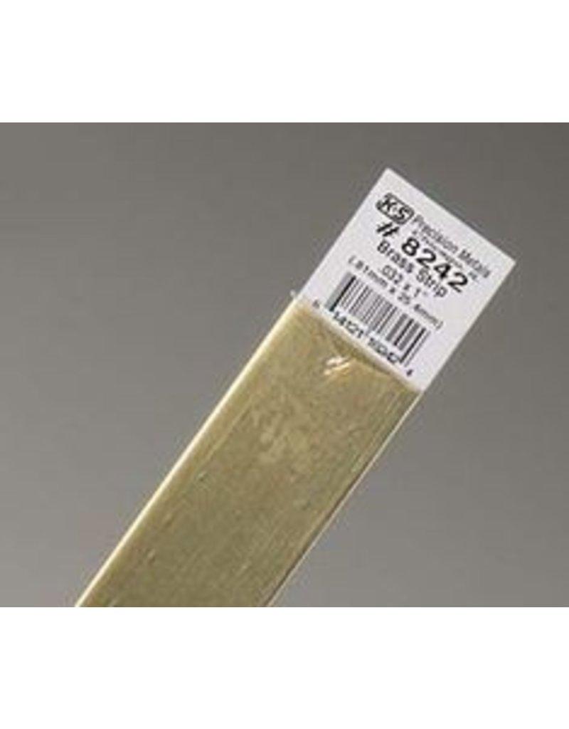 K & S Engineering Brass Strip .032''x1''x12'' #8242