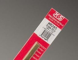 K & S Engineering Brass Strip .064''x1/4''x12'' #8245