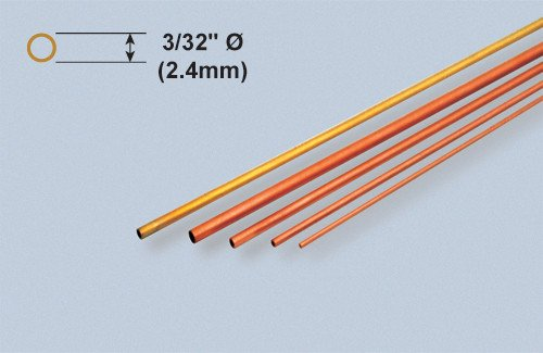 K & S Engineering Copper Tube 3/32''x.014''x12'' (3pcs) #8118
