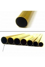 K & S Engineering Brass Tube 17/32''x.014''x36'' #9117