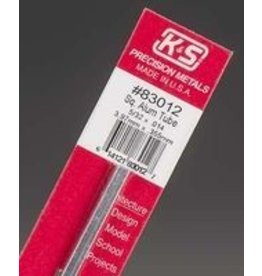 K & S Engineering Square Aluminum Tube 5/32''x.014''x12'' #83012