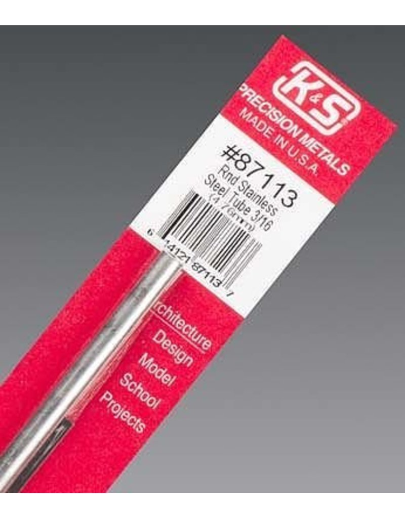 K & S Engineering Stainless Tube 3/16''x22Gx12'' #87113