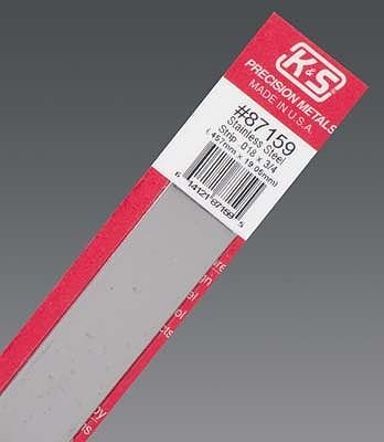 K & S Engineering Stainless Strip .018''x3/4''x12'' #87159