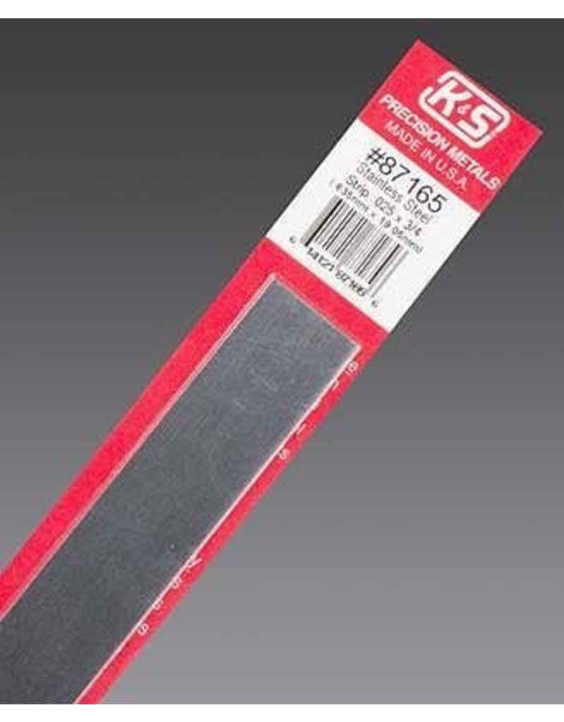 K & S Engineering Stainless Strip .025''x3/4''x12'' #87165