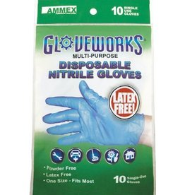 Nitrile Gloves One-size-fits-all 10 pack
