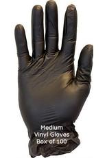 Black Vinyl Gloves Medium Box