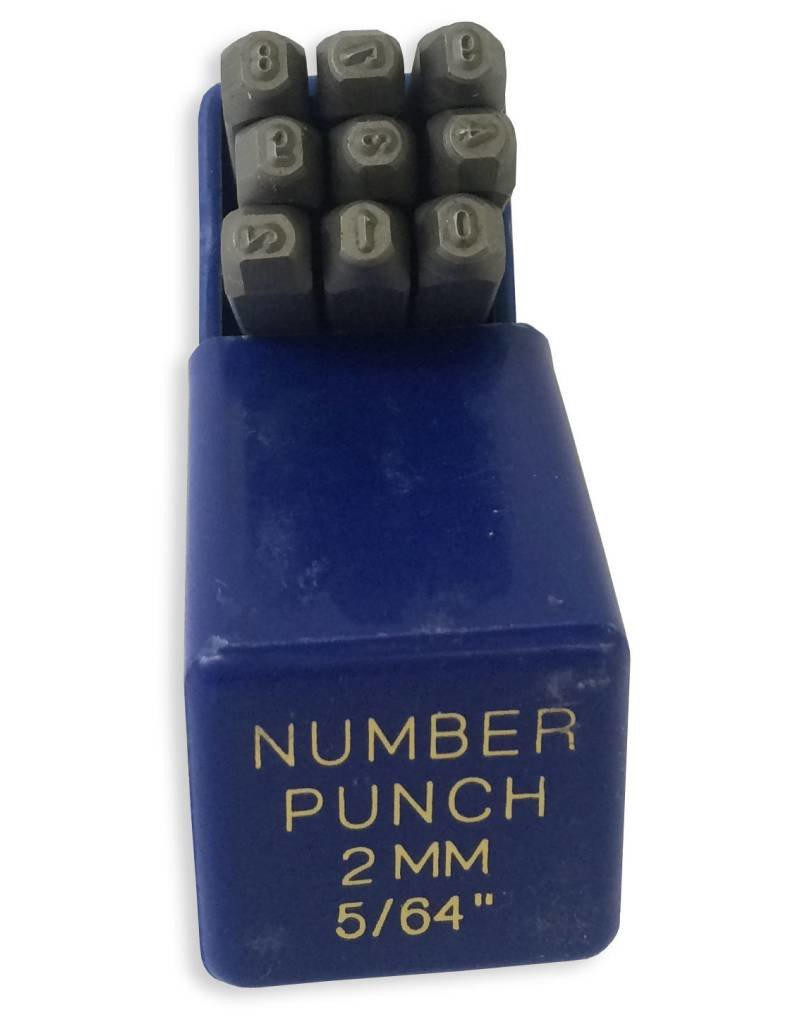 "2mm (5/64"") Number Punch Set"
