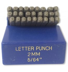 "2mm (5/64"") Letter Punch Set"